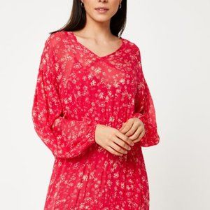 Free People Wallflower Midi Dress Raspberry NEW